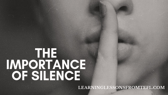 The importance ofsilence