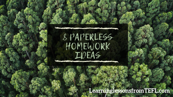 8 paperless homework ideas