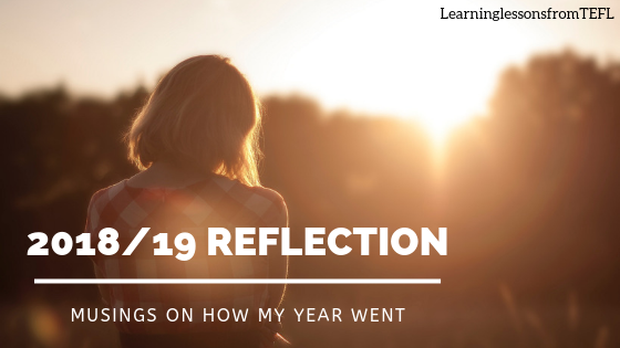 2018/19 Reflection: musings on how my yearwent