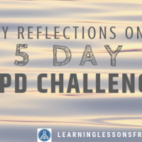 My reflections on a 5 Day CPD challenge