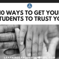 10 ways to get your students to trust you