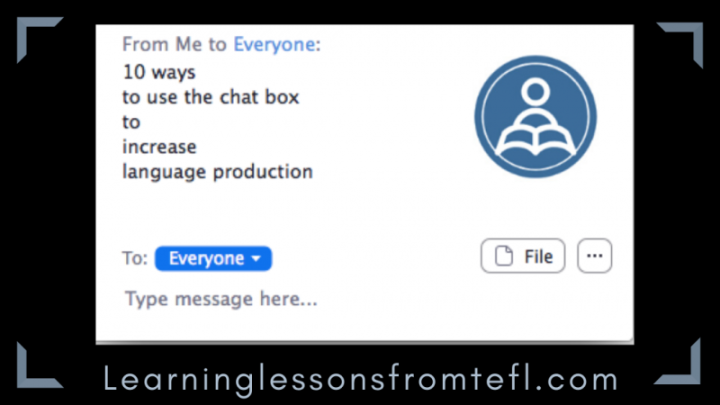 10 ways to use the chatbox to increase language production